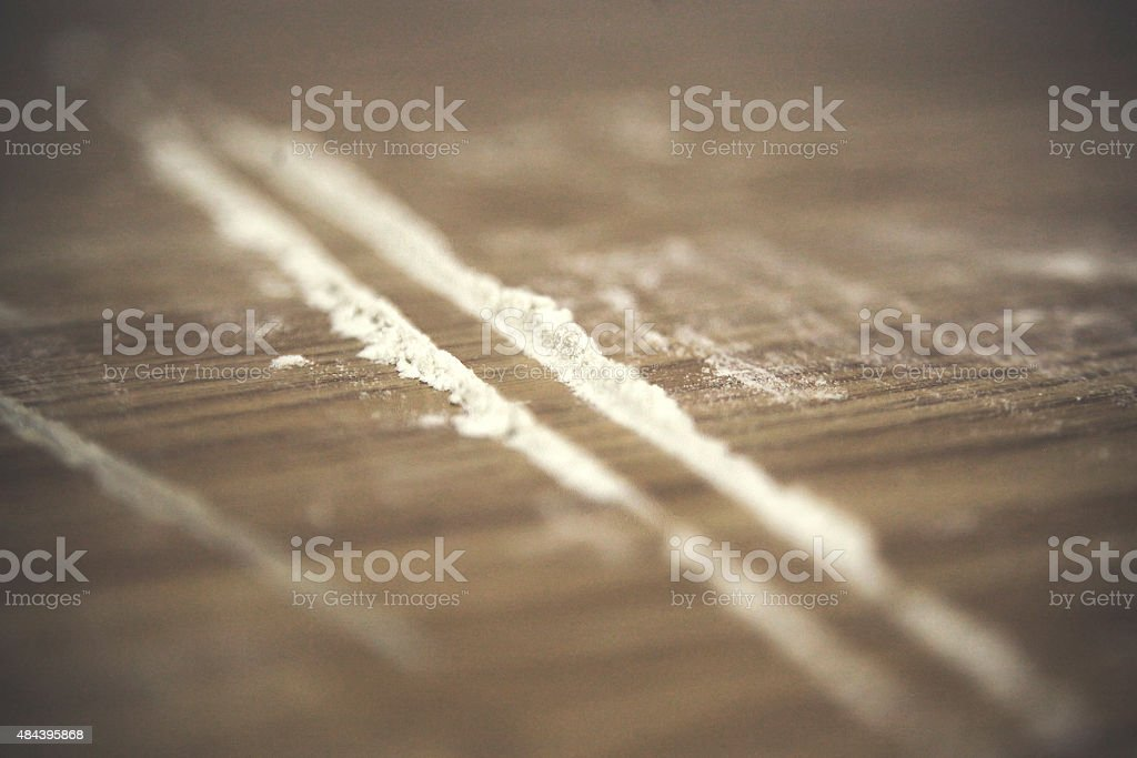 Cocaine line stock photo
