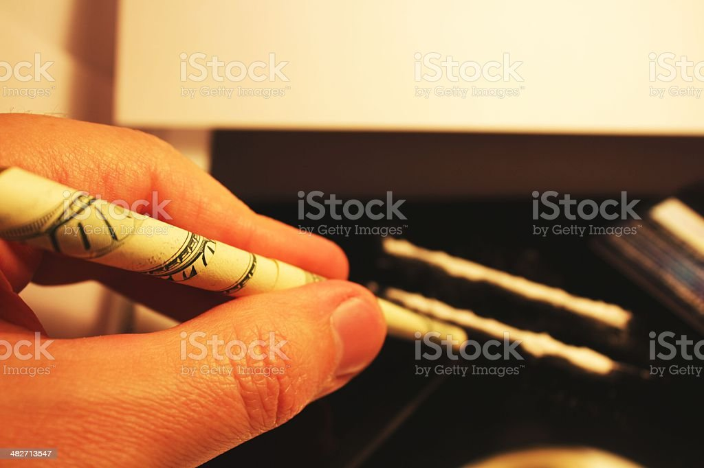 Cocaine lines royalty-free stock photo