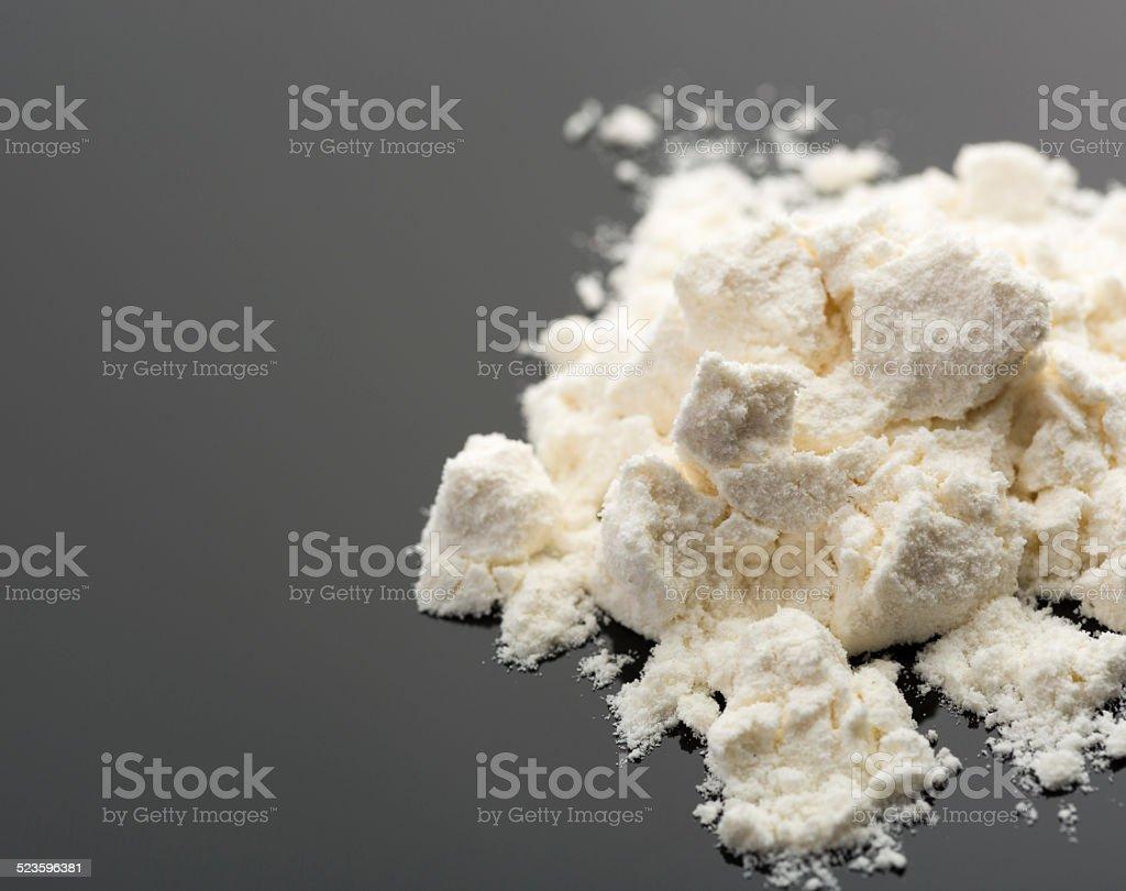Cocaine on grey stock photo