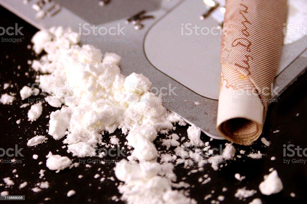 Cocaine royalty-free stock photo