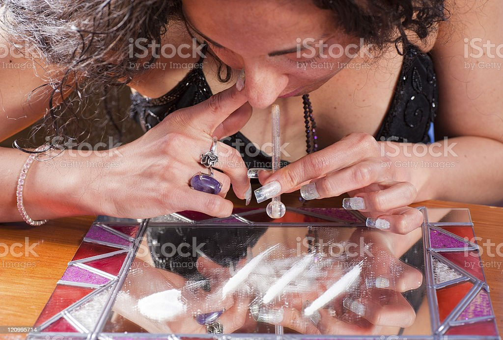 Cocaine royalty-free stock photo