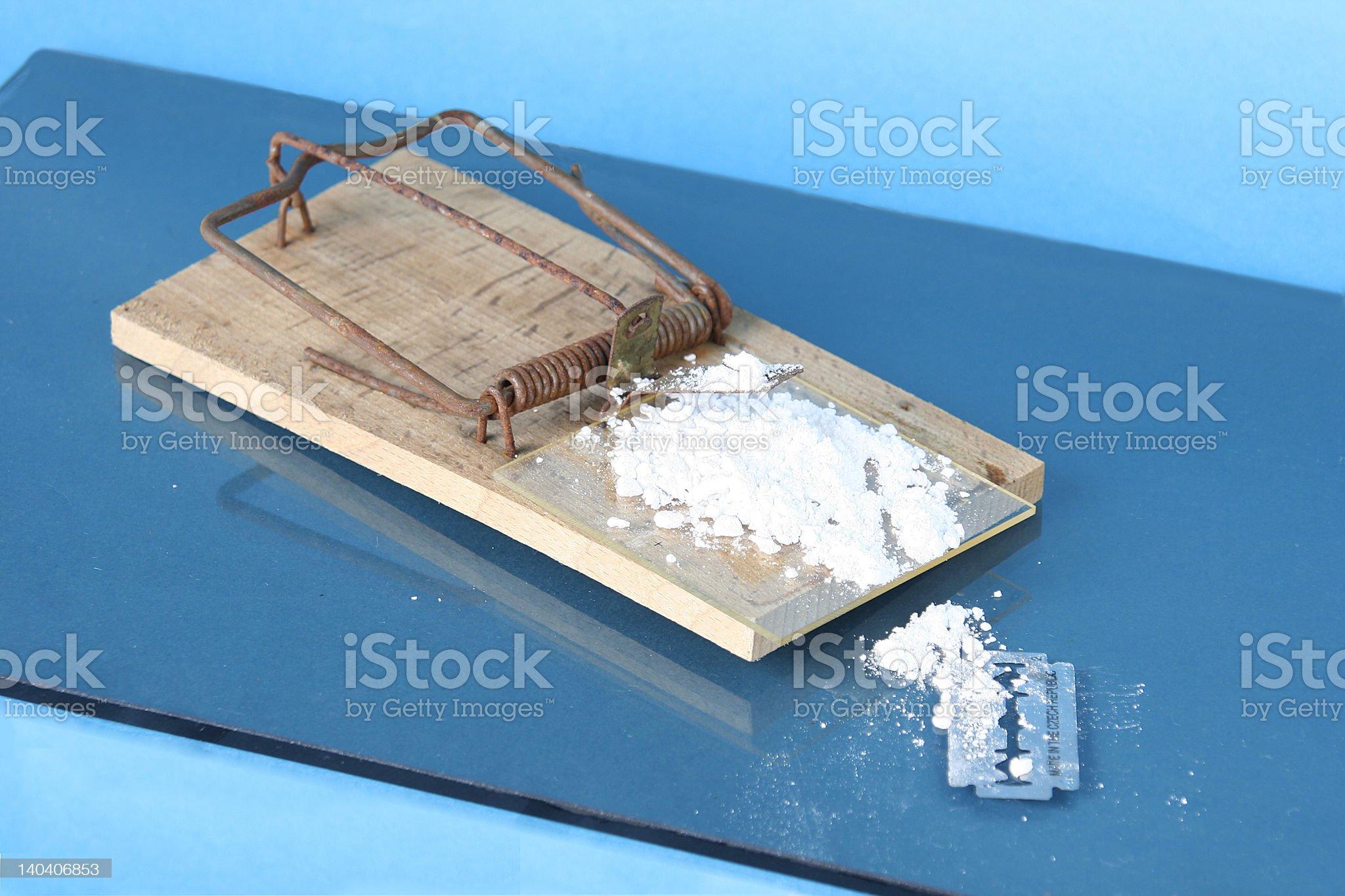 Cocaine Trap royalty-free stock photo