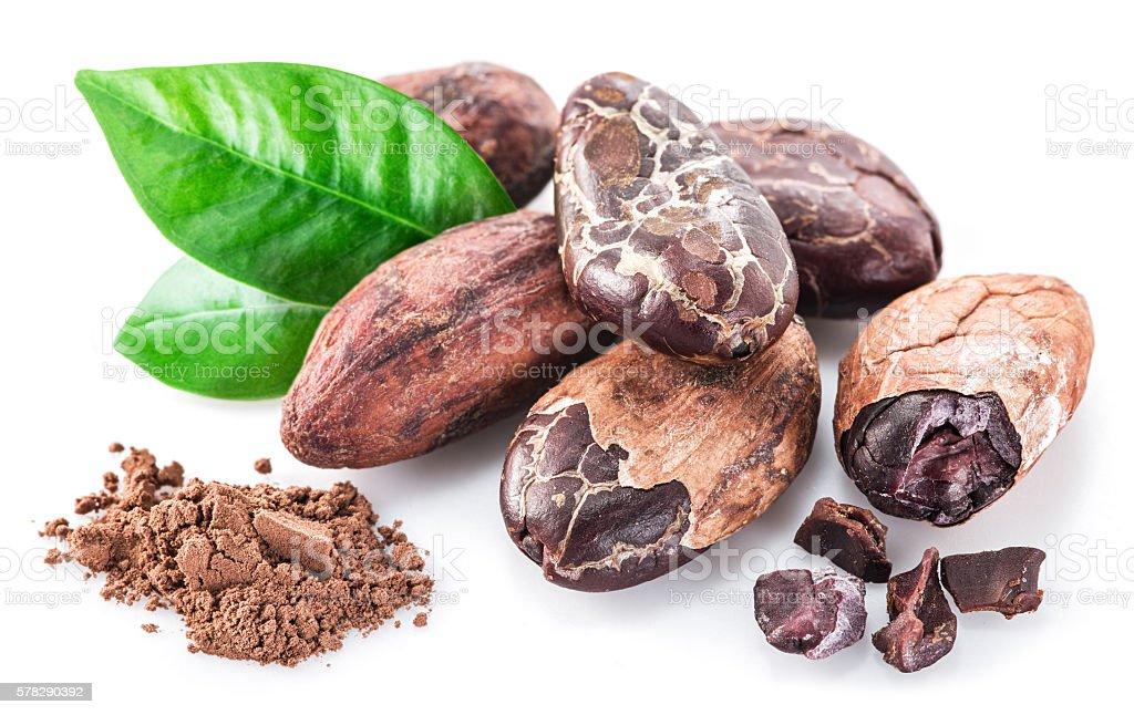 Cocao beans. stock photo