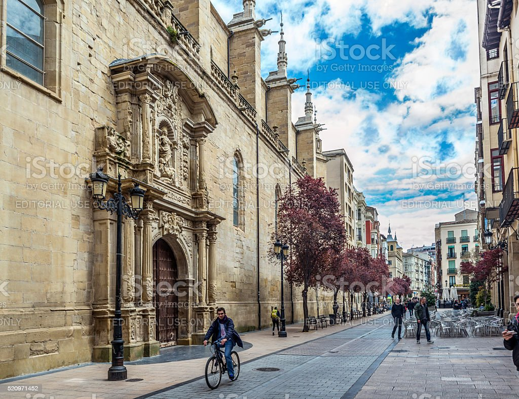 Co-cathedral of Santa Maria de la Redonda of Logroño, Spain. stock photo