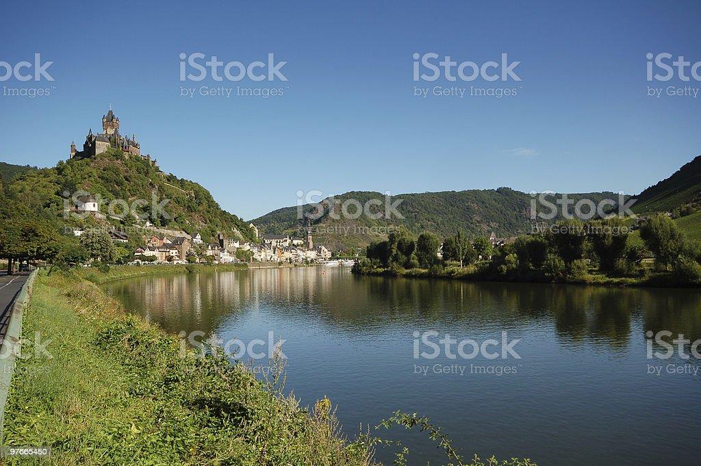 Cochem at Mosel River royalty-free stock photo