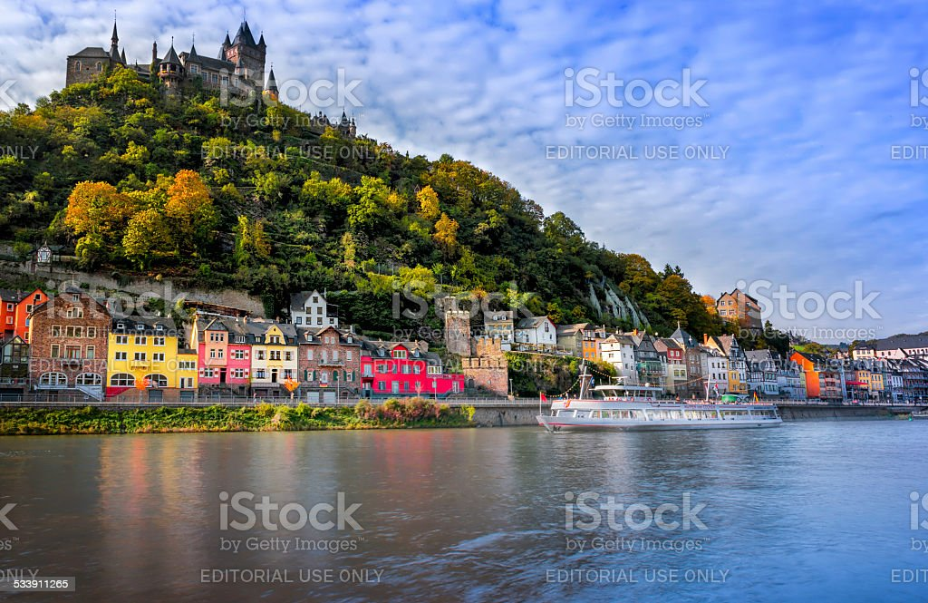 Cochem Castle stock photo