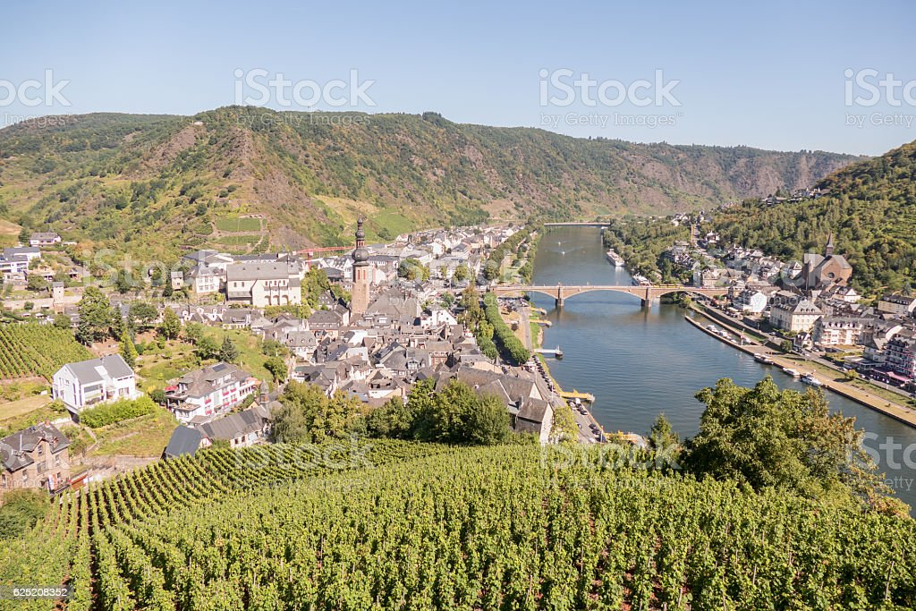 Cochem city with river Mosel. stock photo