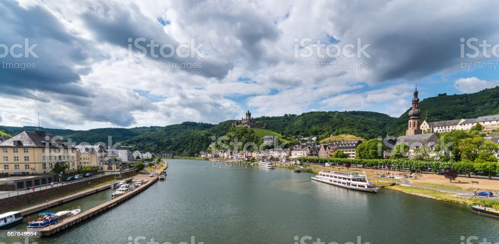 Cochem Imperial castle in Germany stock photo