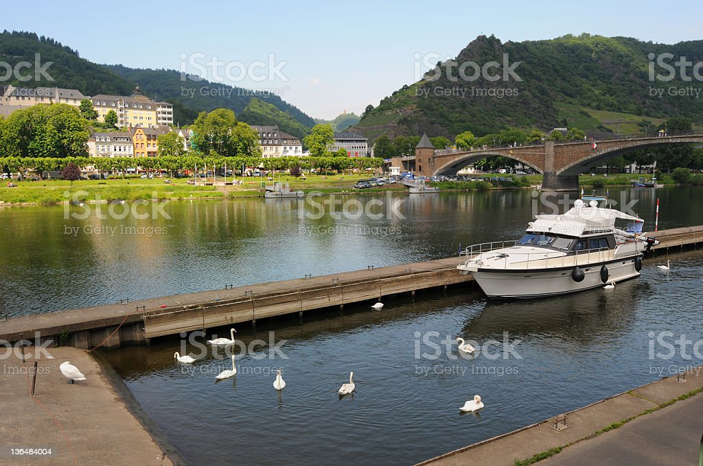 Cochem (Germany) in mosel valley - Moseltal stock photo