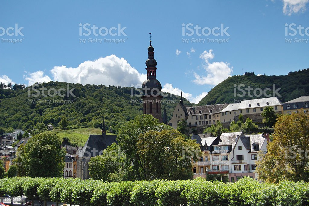 Cochem in mosel valley stock photo