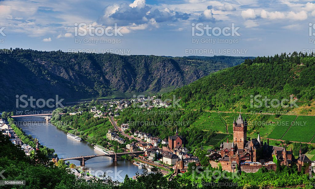 Cochem on the Moselle in Germany stock photo