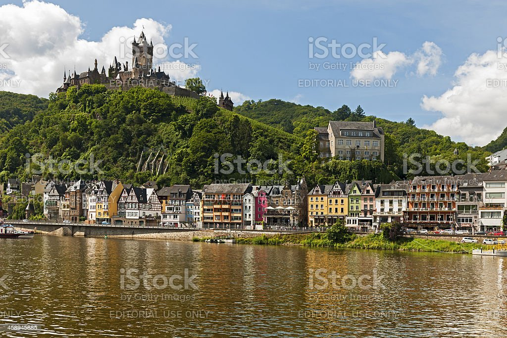 Cochem on the Moselle. stock photo