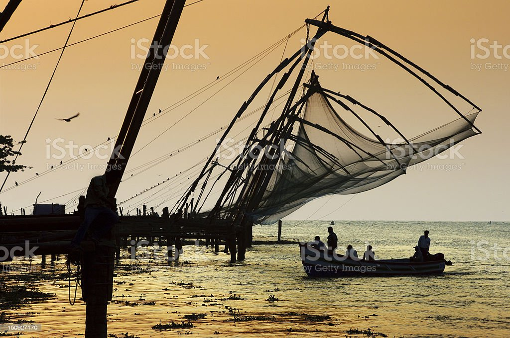 Cochin at sunset stock photo