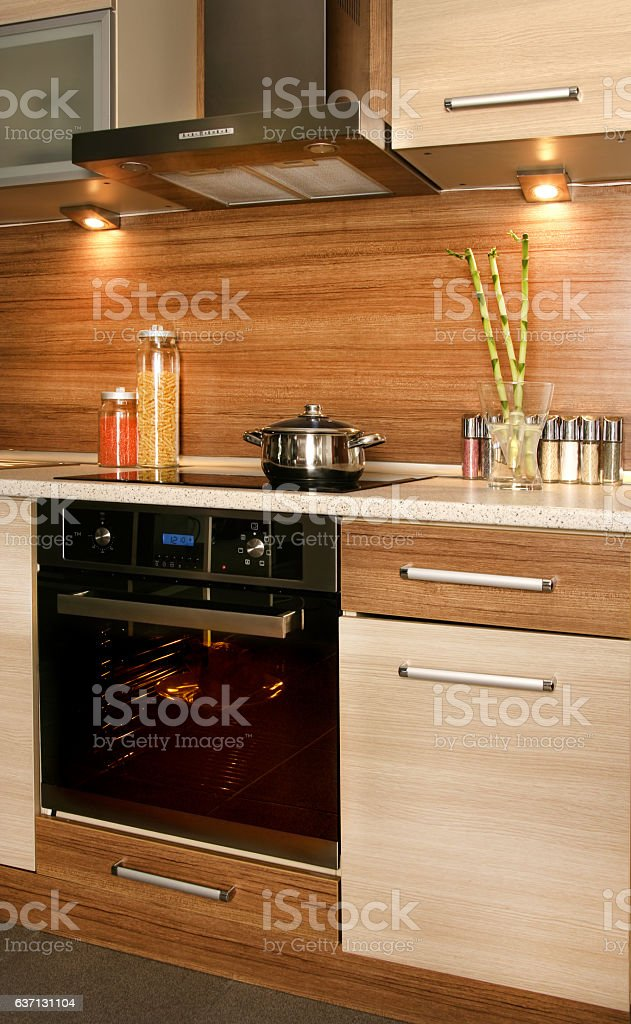 cocking in oven stock photo
