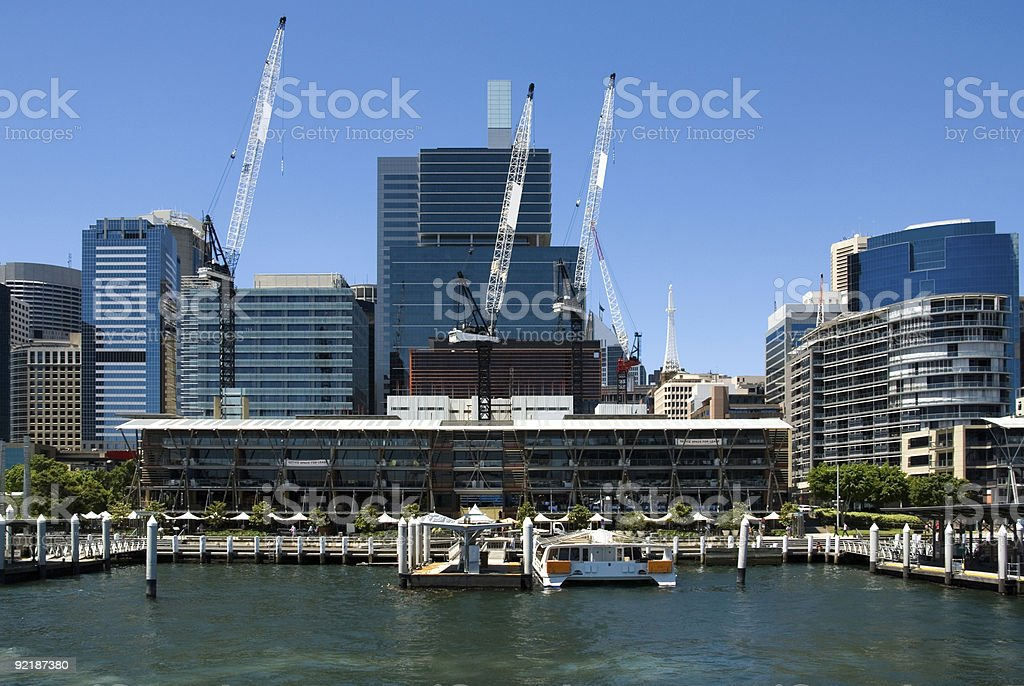 Cockle Bay Harbour Scene royalty-free stock photo