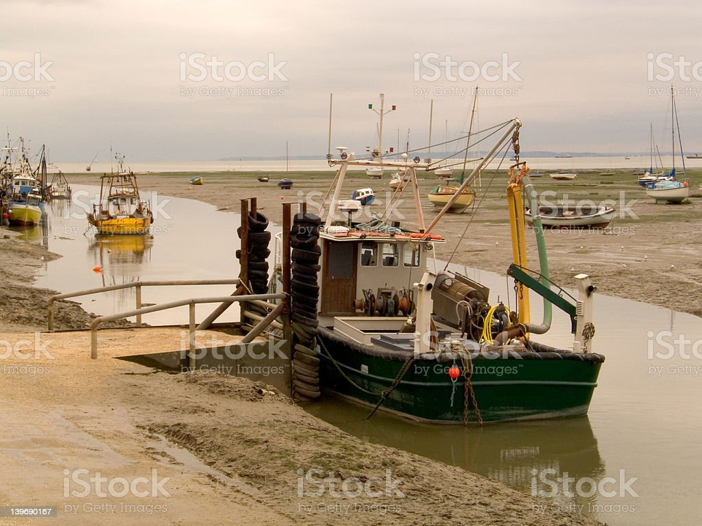 Cockle boats royalty-free stock photo