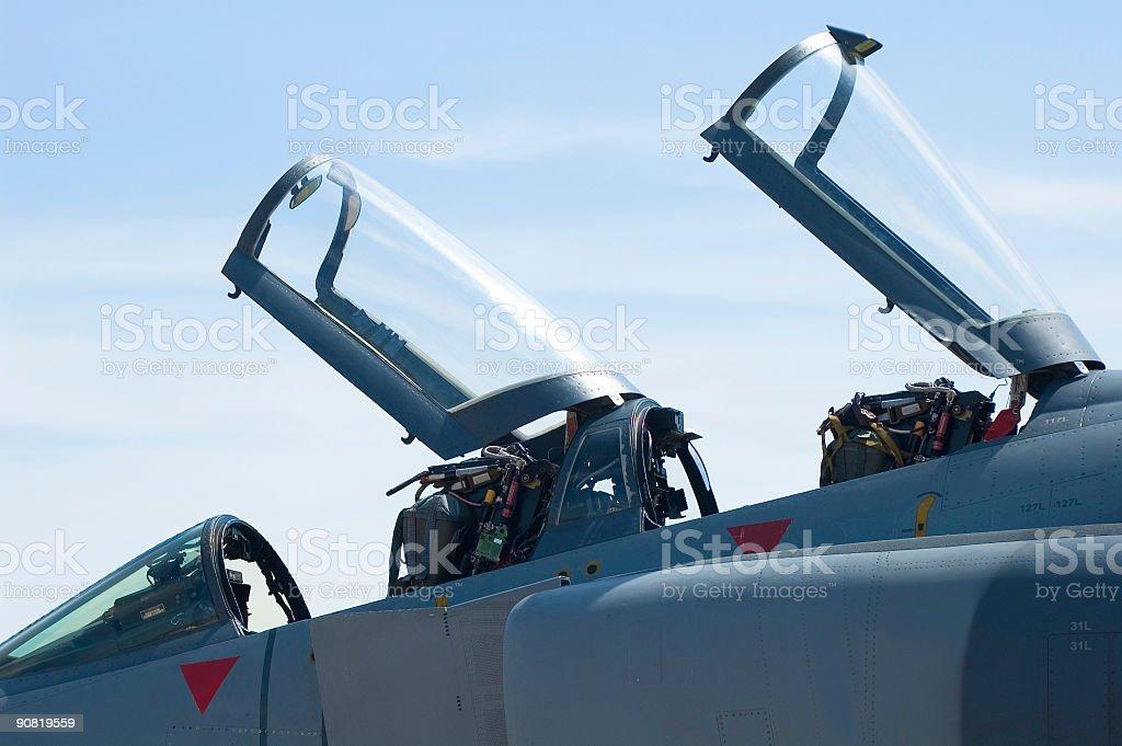 Cockpit canopies stock photo