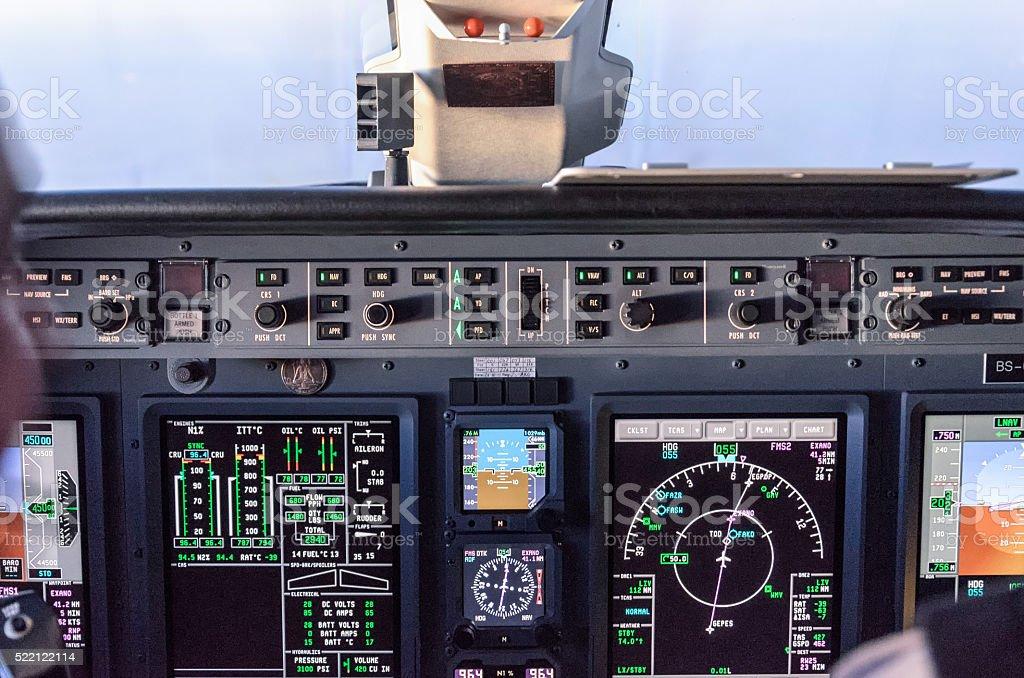Cockpit Cessna Citation Sovereign stock photo