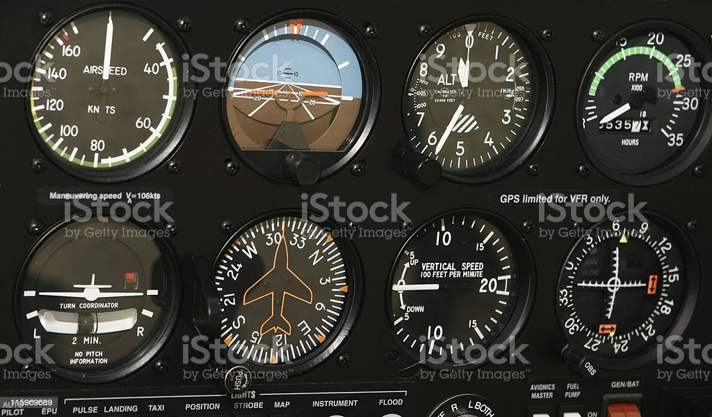 Cockpit Control Panel royalty-free stock photo