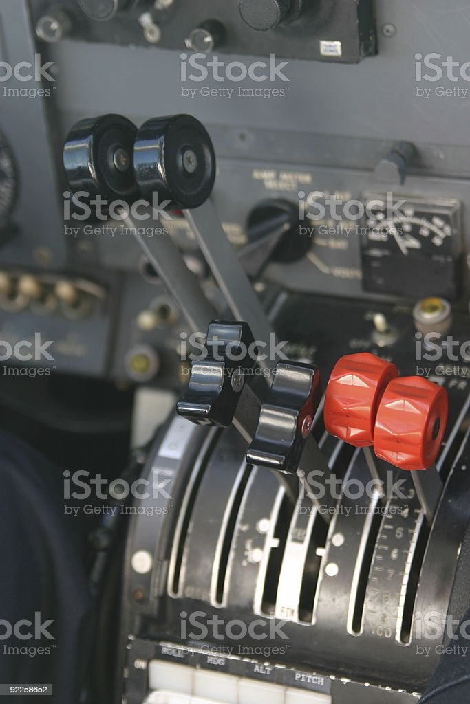 Cockpit Controls royalty-free stock photo