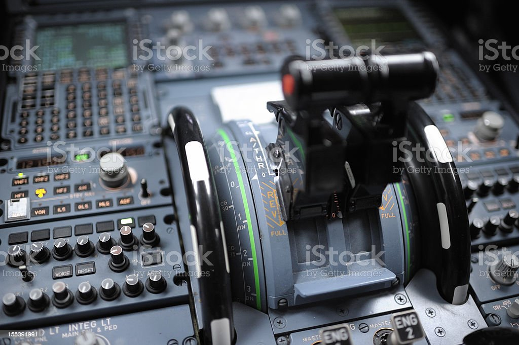 Cockpit Detail Airbus A320 stock photo