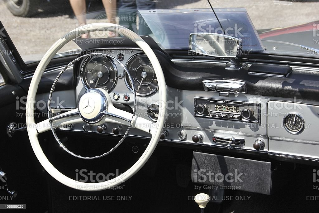 Cockpit from an Mercedes SL 190 Cabrio Oldtimer. royalty-free stock photo