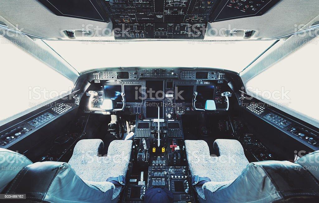 Cockpit Interior stock photo