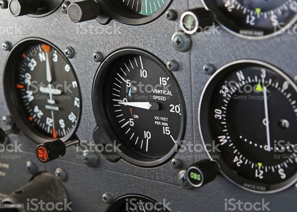 Cockpit of a Diamond Star Airplane royalty-free stock photo