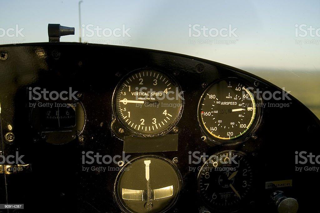Cockpit of a floatplane royalty-free stock photo