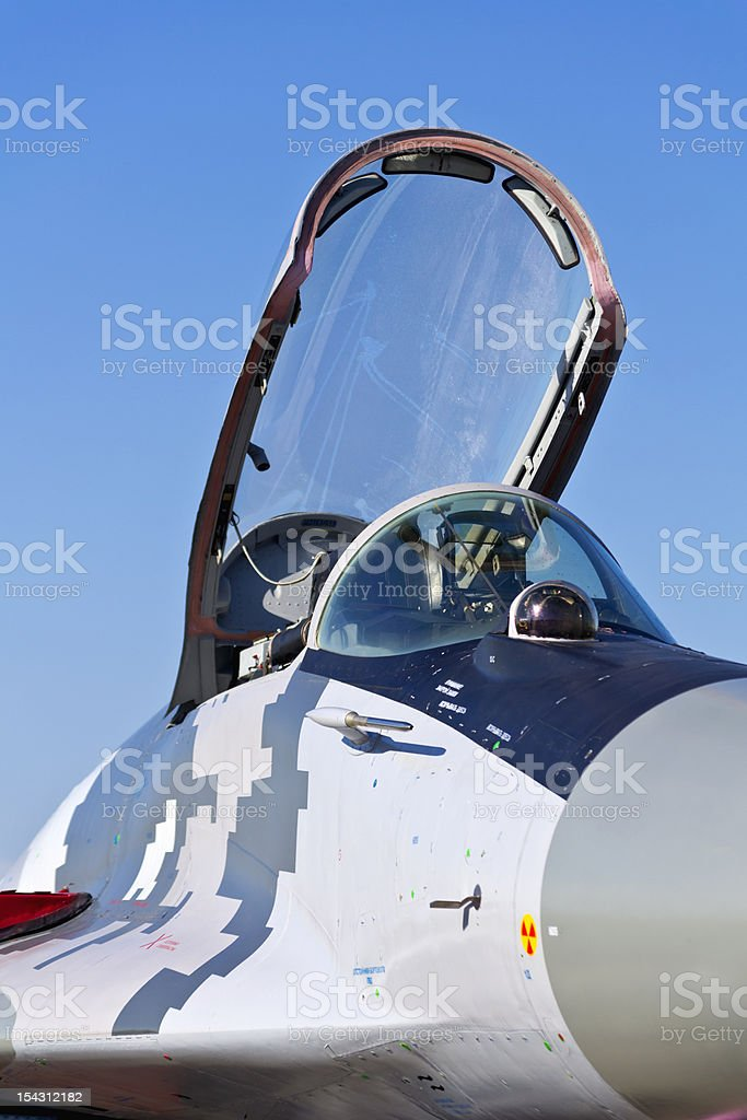 Cockpit of a MiG 29 aircraft. royalty-free stock photo
