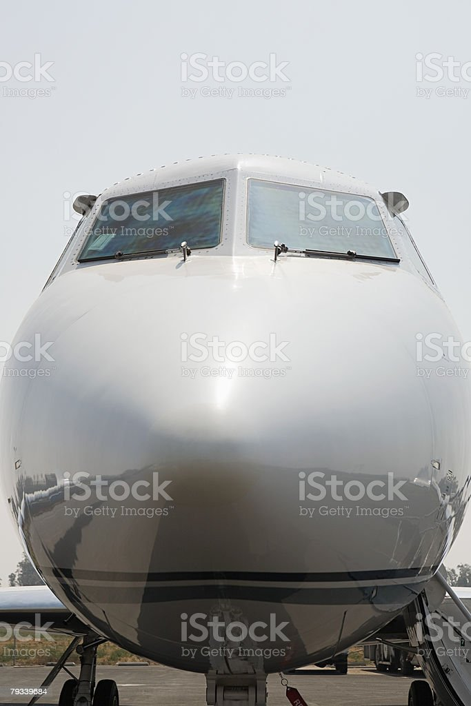 Cockpit of a private airplane royalty-free stock photo