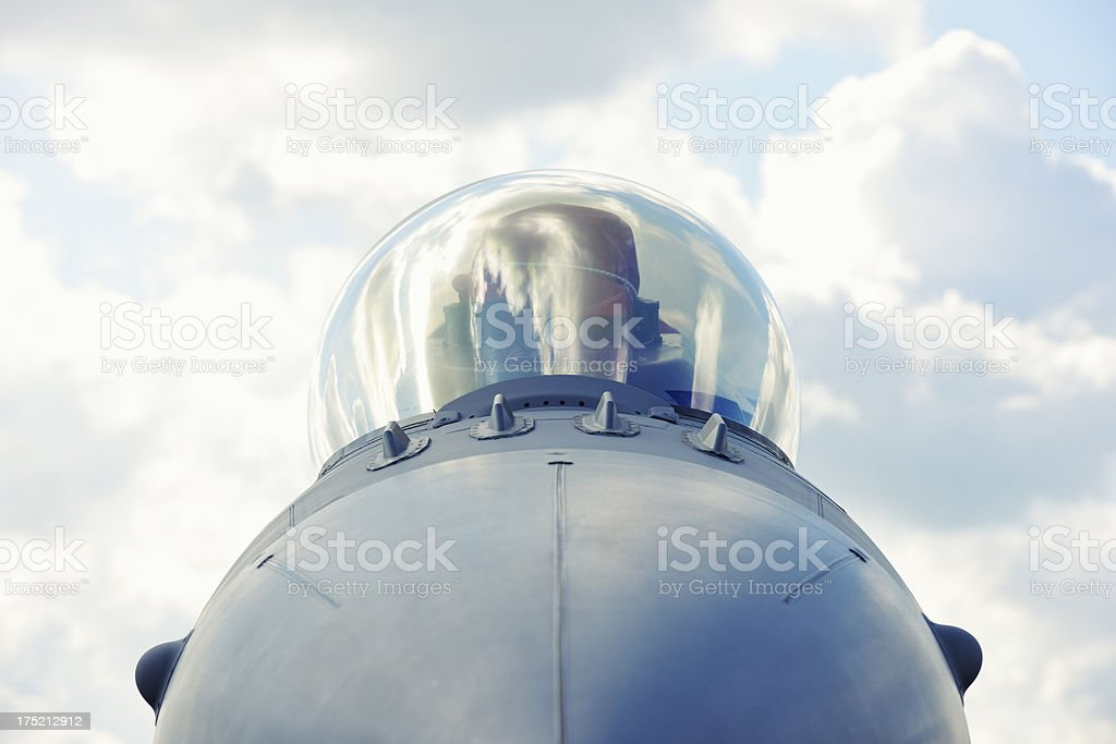 Cockpit of Jet Fighter royalty-free stock photo