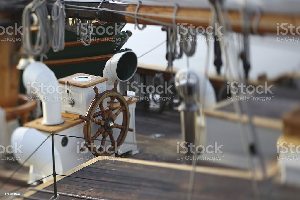Cockpit of Sailboat royalty-free stock photo
