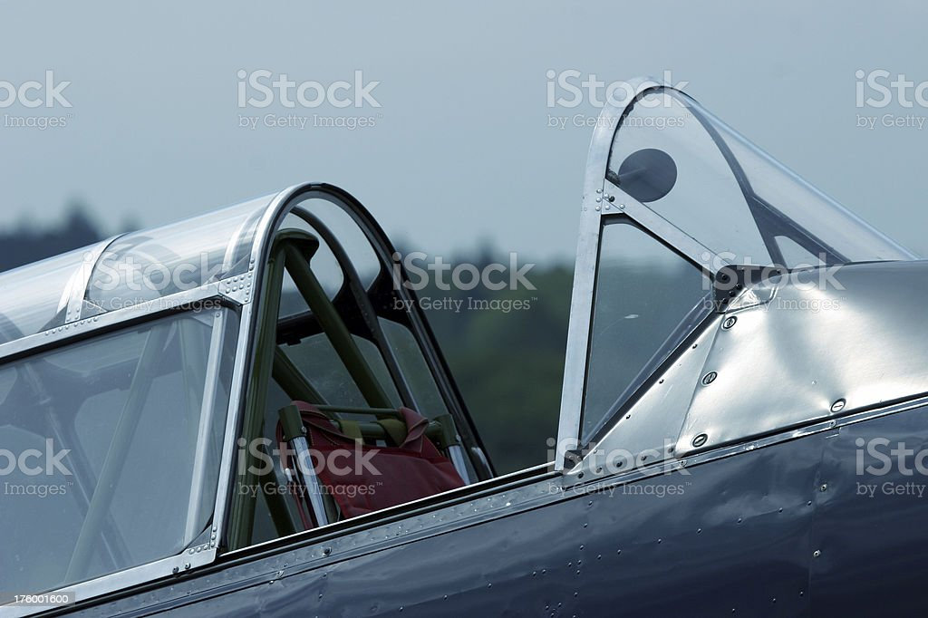 cockpit of vintage plane royalty-free stock photo