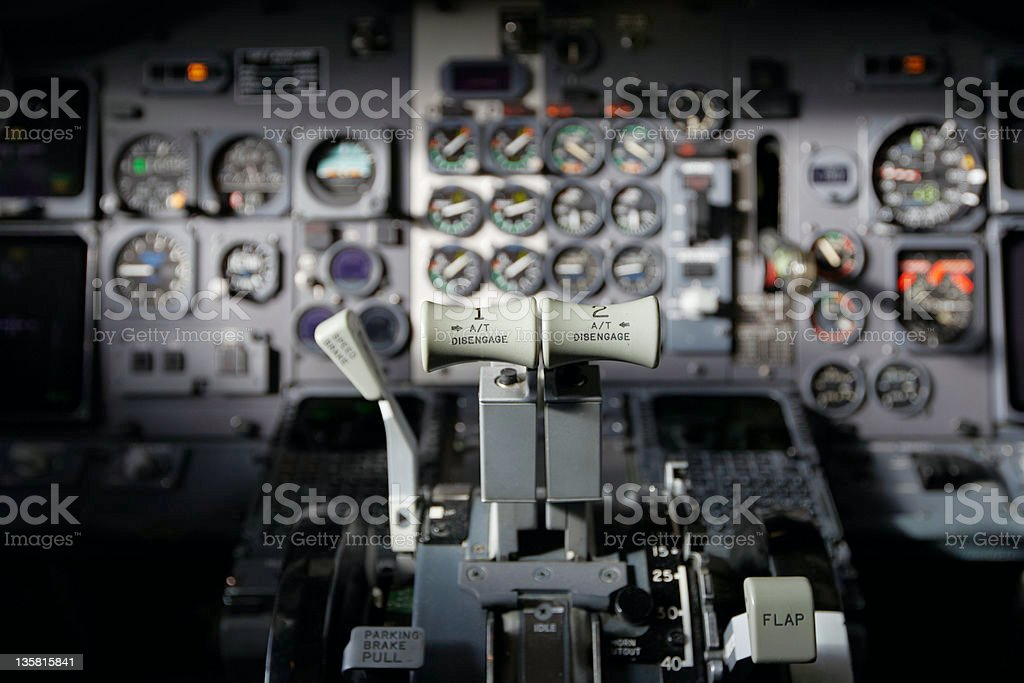 Cockpit royalty-free stock photo