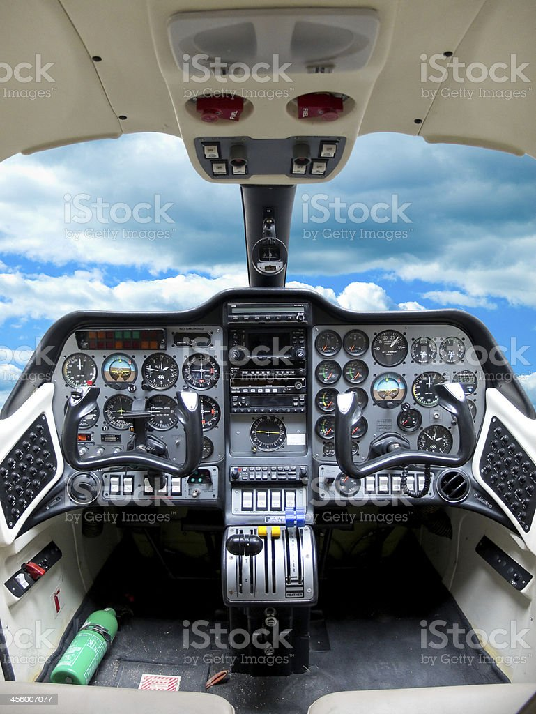Cockpit plane. stock photo
