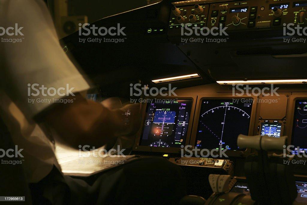 Cockpit Preperation royalty-free stock photo