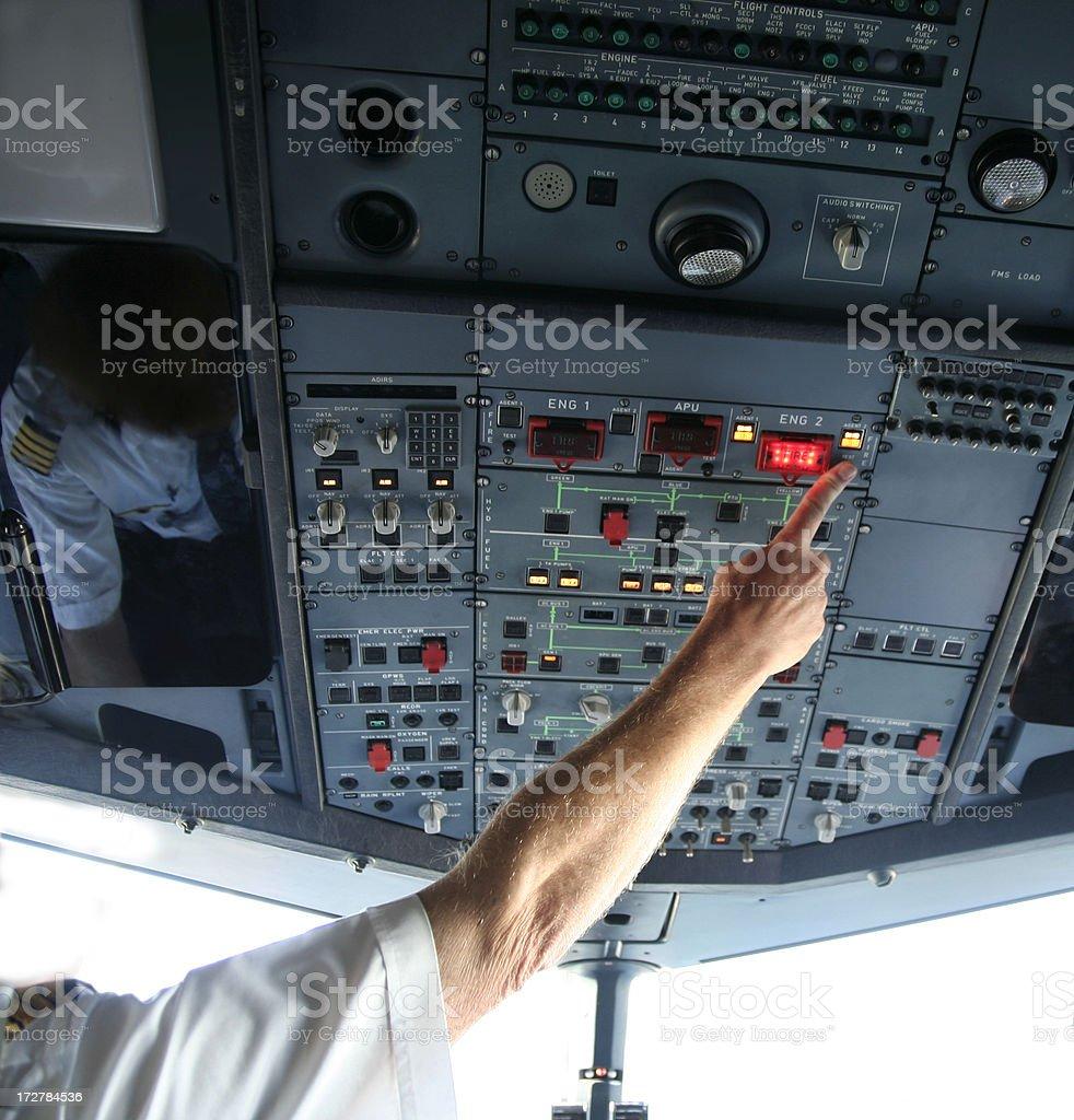 Cockpit series Engine test royalty-free stock photo