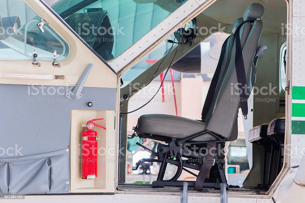 Cockpit the plane stock photo