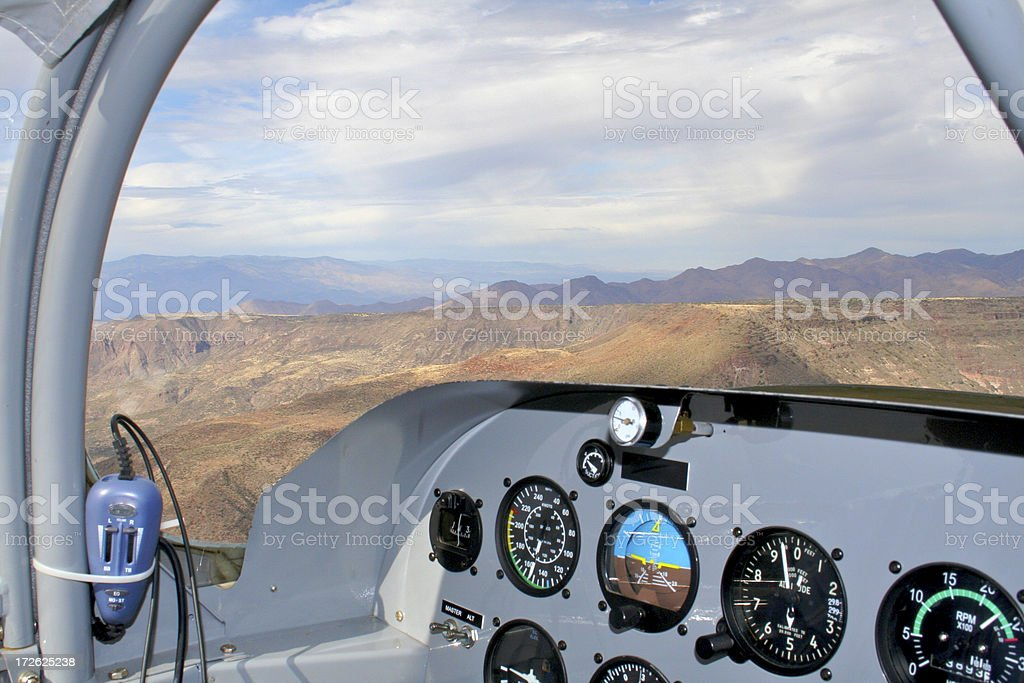 Cockpit View of Horizon royalty-free stock photo