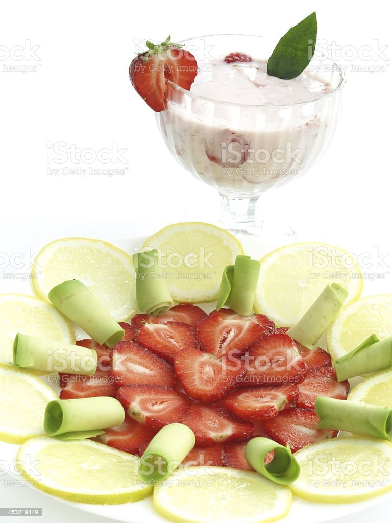Cocktail and fruits royalty-free stock photo