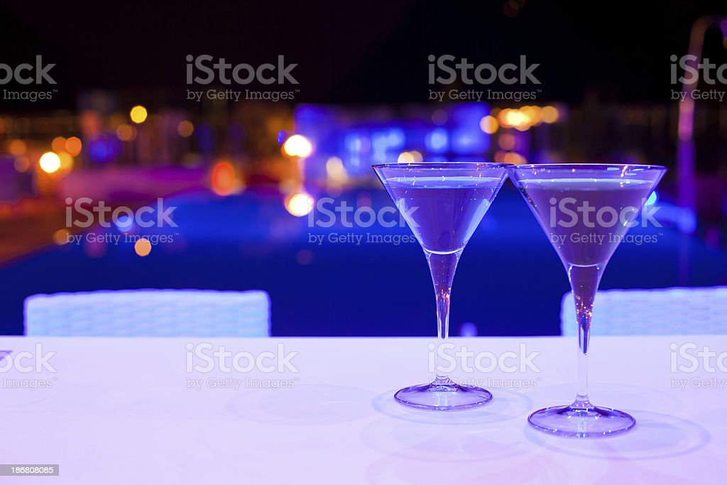 Cocktail and Swimming Pool royalty-free stock photo