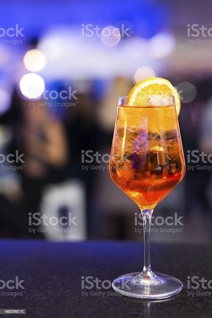 Cocktail aperol spritz stock photo
