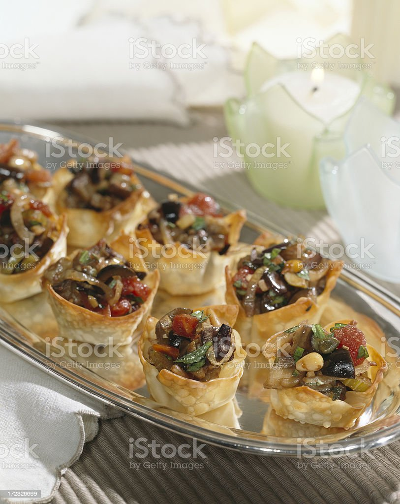 Cocktail appetizers royalty-free stock photo