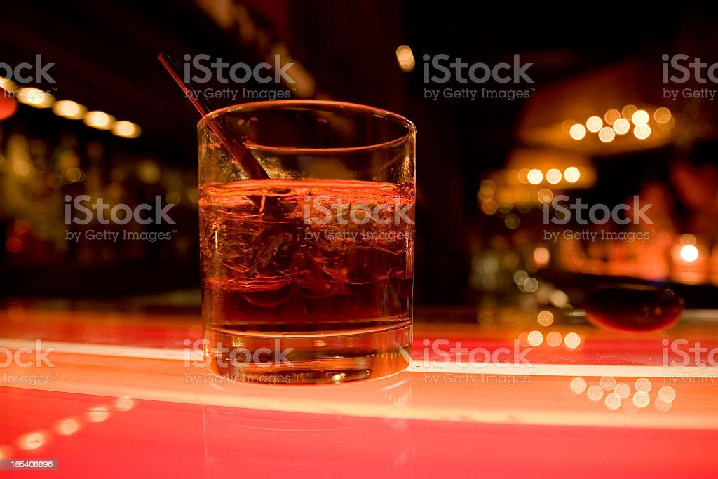 Cocktail at the Nightclub Bar royalty-free stock photo