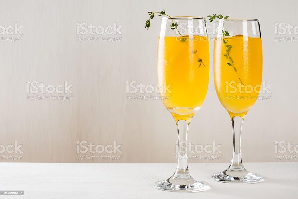 Cocktail based on orange juice stock photo
