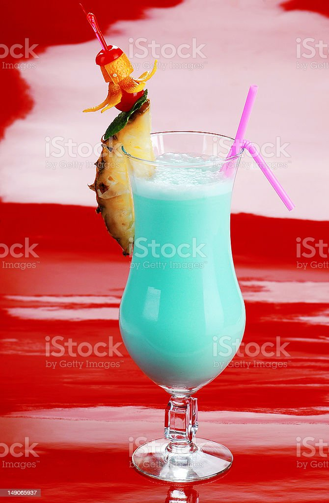 cocktail blue Hawaii blended royalty-free stock photo