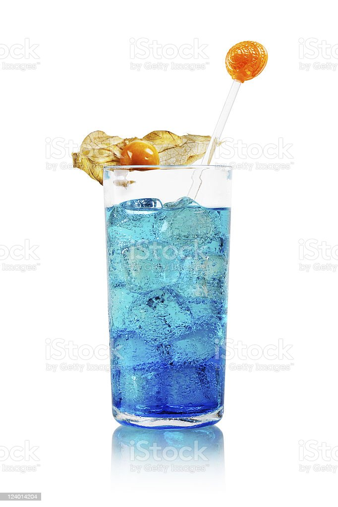 Cocktail Blue Lagoon stock photo