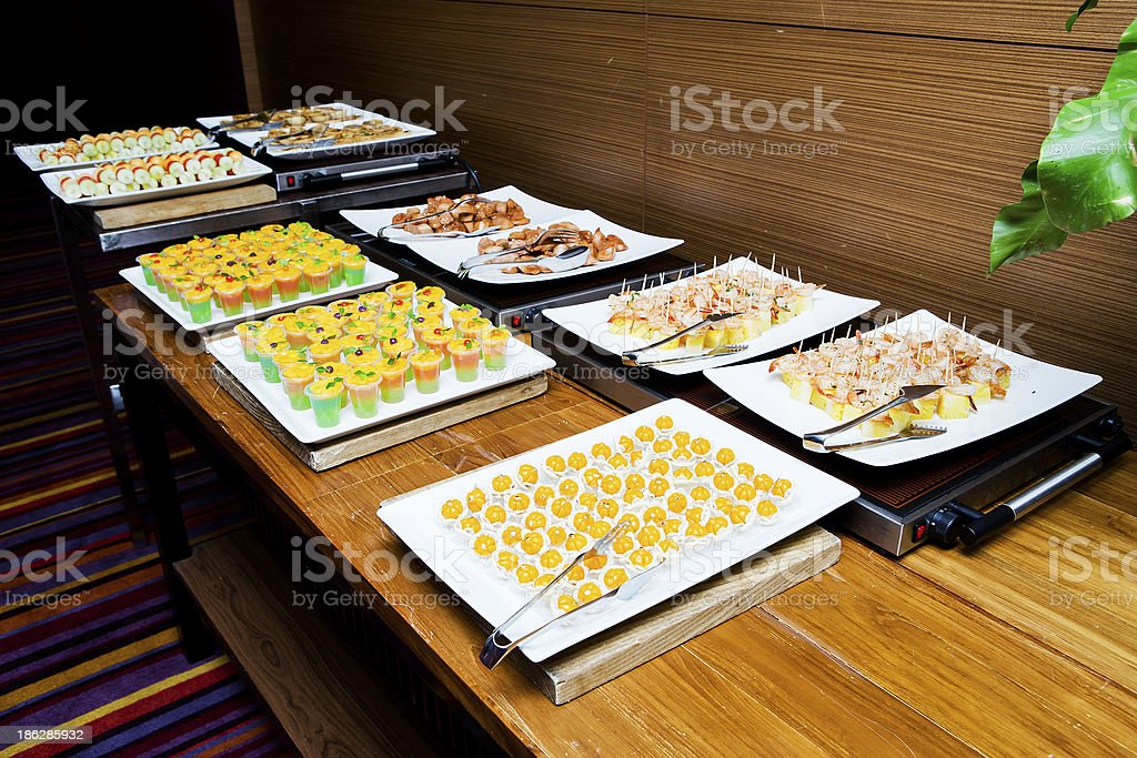 Cocktail buffet royalty-free stock photo