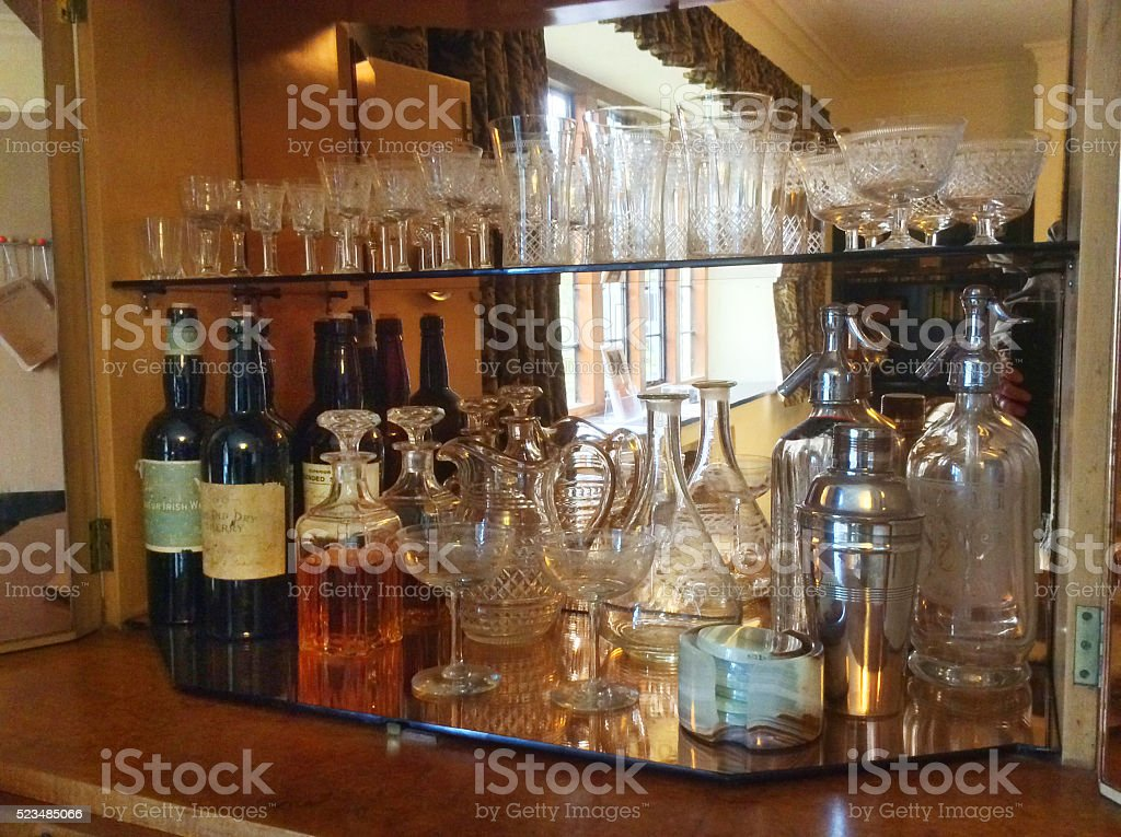 Cocktail Cabinet stock photo